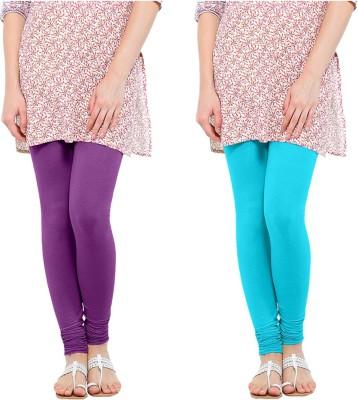 Oh Fish Women's Purple, Light Blue Leggings