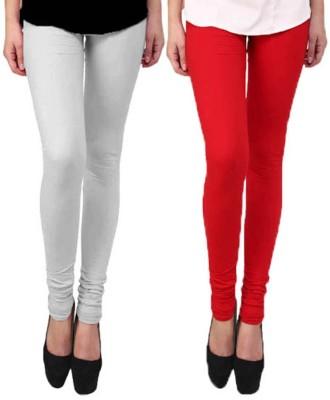 KANNAN Women's White, Red Leggings