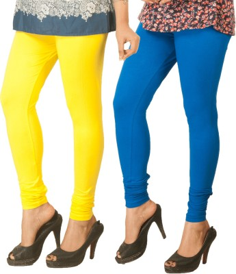 Berries Women's Yellow, Blue Leggings
