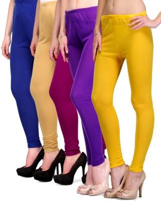 Rowena Women's Blue, Beige, Purple, Yellow Leggings
