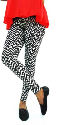Flur Women's White, Black Leggings