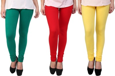 Legemat Girl,s Green, Yellow, Red Leggings