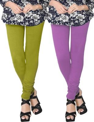 JV Wears Women's Green, Purple Leggings