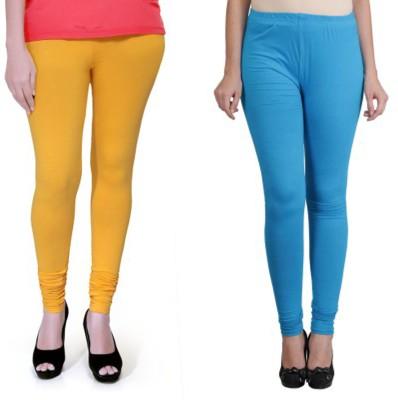 Boofa Women's Yellow, Blue Leggings