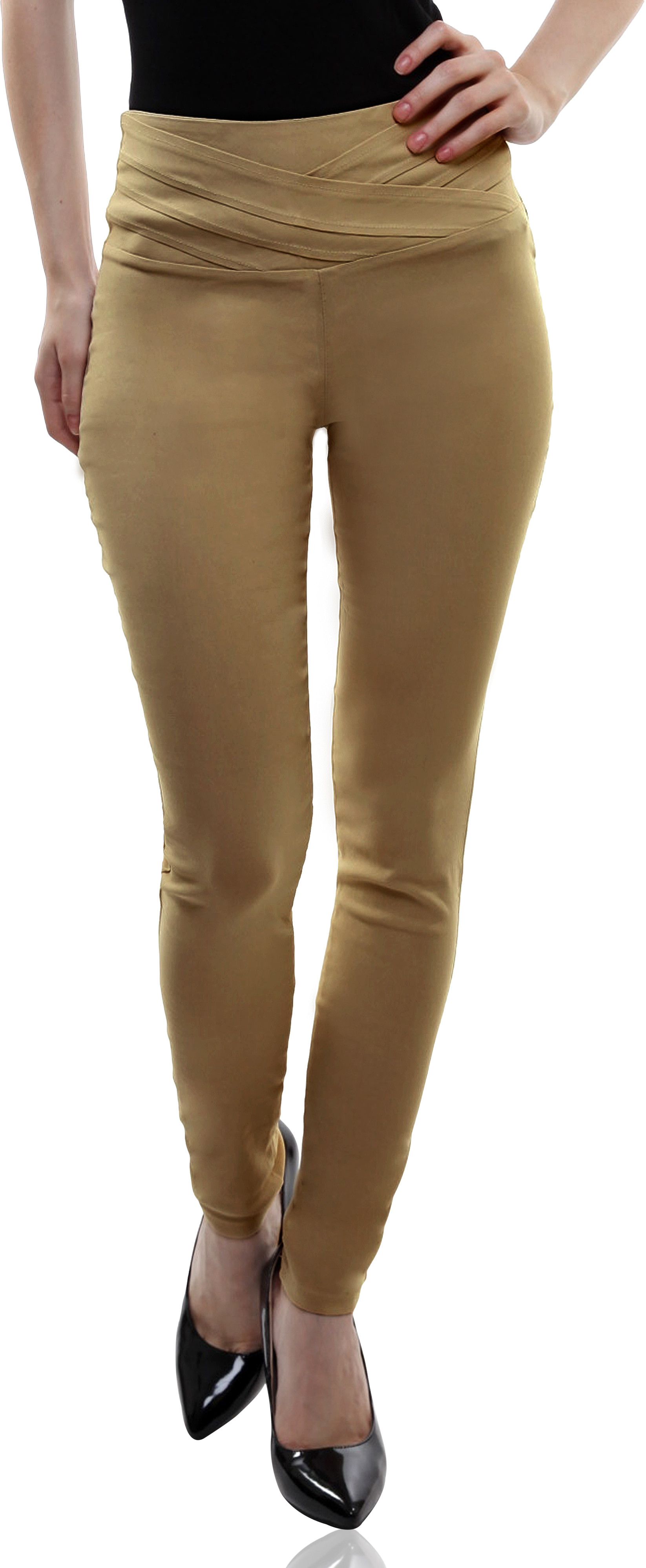 Miss Chase Womens Beige Jeggings