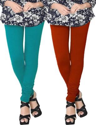 JV Wears Women's Blue, Orange Leggings