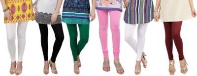 Prekrasna Women,s Beige, Black, Green, Pink, White, Maroon Leggings