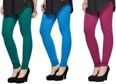 SareeGalaxy Women's Dark Blue, Light Blue, Purple Leggings