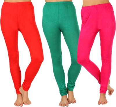 SLS Women's Red, Green, Pink Leggings
