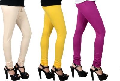 JSA Women's Beige, Yellow, Purple Leggings