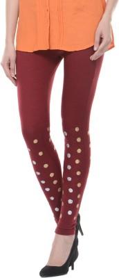 Lavennder Women's Maroon Leggings
