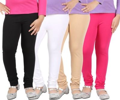 Avarnas Girl's White, Beige, Black, Pink Leggings