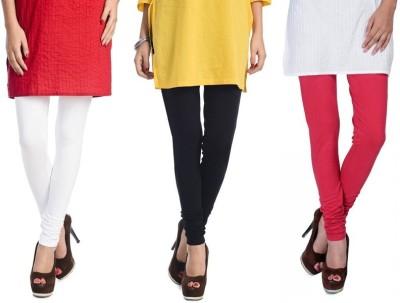 Rupa Softline Women's White, Black, Red Leggings