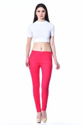 TAB91 Women's Pink Jeggings