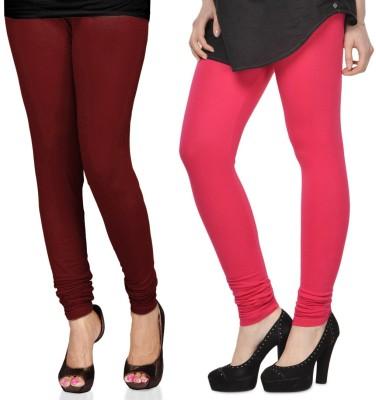 SareeGalaxy Women's Maroon, Pink Leggings