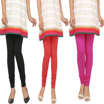 Agrima Fashion Women's Black, Red, Pink Leggings