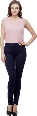 Purple Feather Women's Dark Blue Jeggings