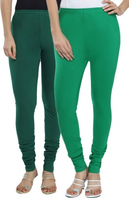Fexy Women's Dark Green, Green Leggings