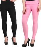Kyron Women's Black, Pink Jeggings (Pack...