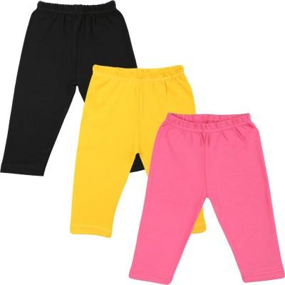 Color Fly Baby Girl's Black, Pink, White Leggings