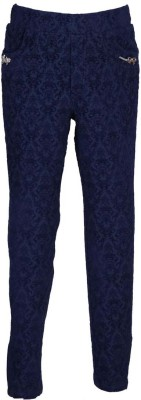 LEI CHIE Girl's Blue Jeggings