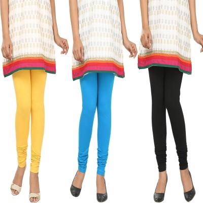 Agrima Fashion Women's Yellow, Light Blue, Black Leggings