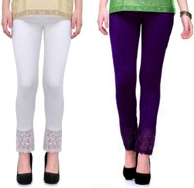 RobinRomeo Women's Purple, White Leggings
