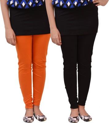 carrol Women's Orange, Black Leggings