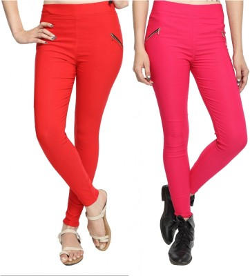 StyloFashionGarments Women's Red, Pink Jeggings