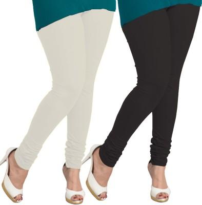 I-Diva Women's White, Black Leggings