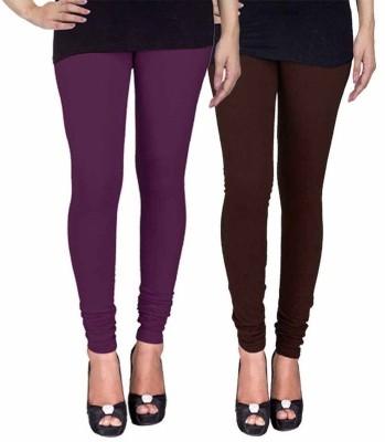 Ayesha Fashion Women's Purple, Brown Leggings