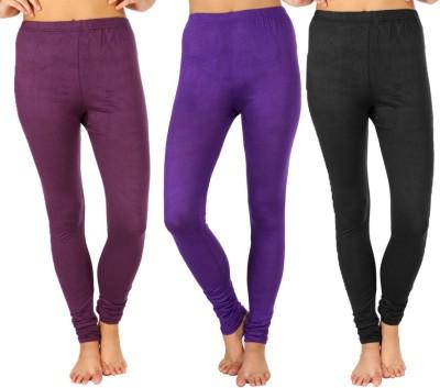 SLS Women's Purple, Purple, Black Leggings