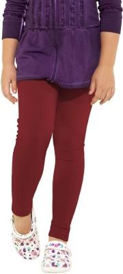 Go Colors Girl's Maroon Leggings