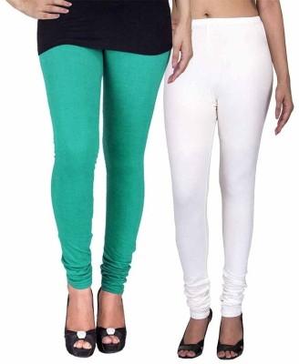 Ayesha Fashion Women's Green, White Leggings