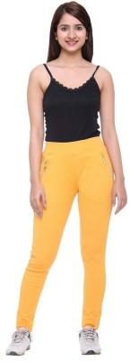 Mijaaz Women's Yellow Jeggings