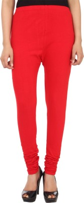 Trendline Women's Red Leggings
