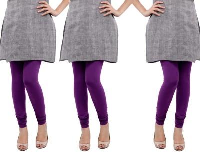 Sampoorna Collection Women's Purple, Purple, Purple Leggings