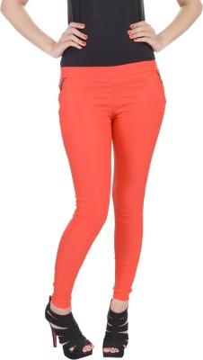 SANA FAB Women's Orange Jeggings