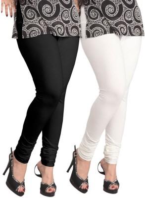 Hari krishna Trading Women's Black, White Leggings
