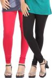 Be-Style Women's Red, Black Leggings (Pa...