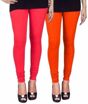 Ayesha Fashion Women's Red, Orange Leggings