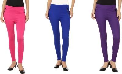 Emblazon Women's Pink, Purple, Blue Jeggings