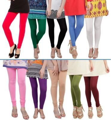 Rowena Women's White, Blue, Dark Green, Red, Pink, Purple, Beige, Green, Maroon Leggings