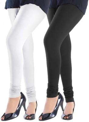 Trusha Dresses Women's White, Black Leggings