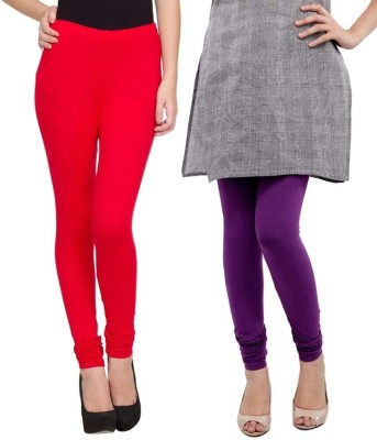 Sampoorna Collection Women's Red, Purple Leggings