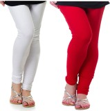Archway Women's White, Red Leggings (Pac...