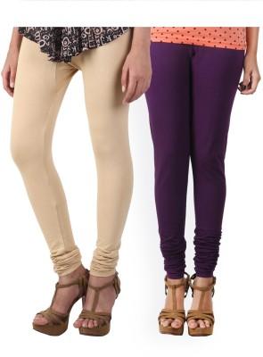 HiFi Women's Beige, Purple Leggings