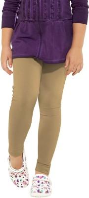 Go Colors Girl's Beige Leggings