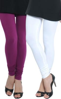 Tulsattva Women's Maroon, White Leggings