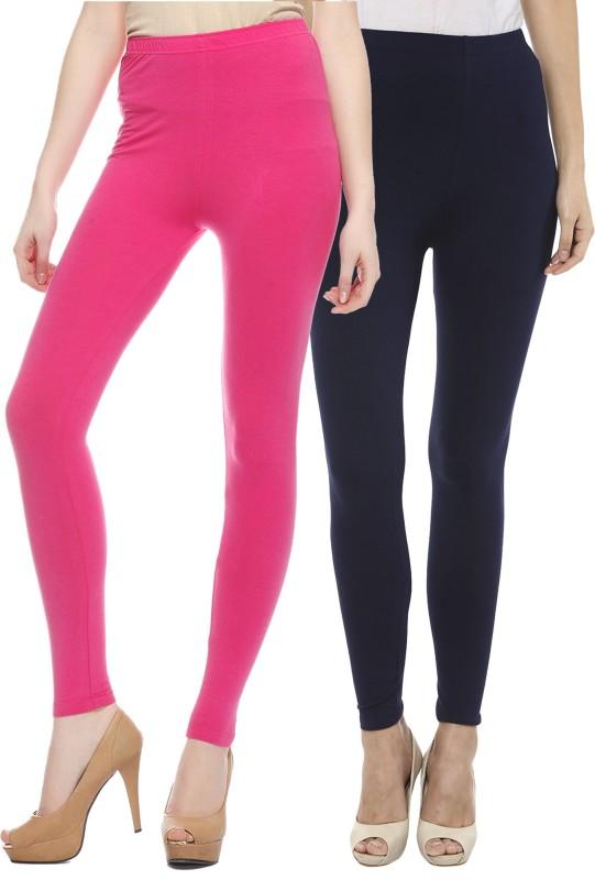 Sakhi Sang Women's Pink, Blue Leggings(Pack of 2)